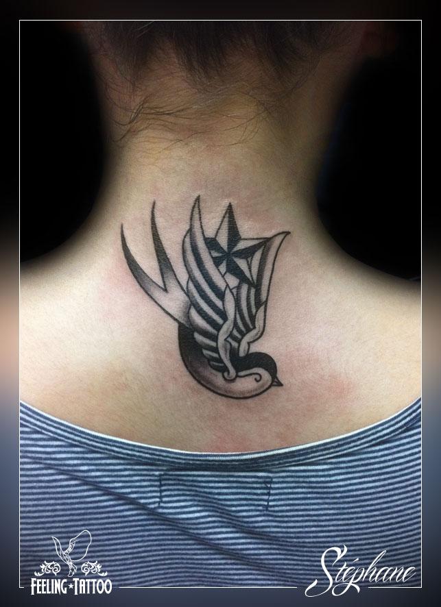 Feeling tattoo piercing tatouages par st phane galerie 4 - Tatouage hirondelle old school ...